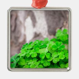 緑のクローバーのアイルランド人の印 メタルオーナメント