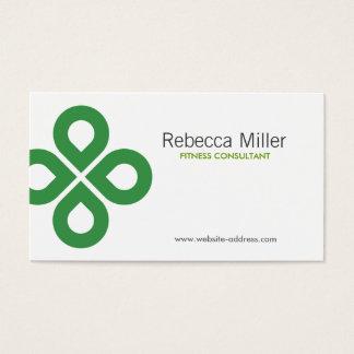 緑のクローバーのデザイン 名刺