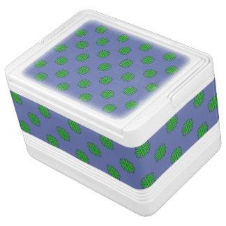緑のクローバーのリボン IGLOOクーラーボックス