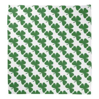 緑のクローバーパターンセントパトリックの日のバンダナ バンダナ