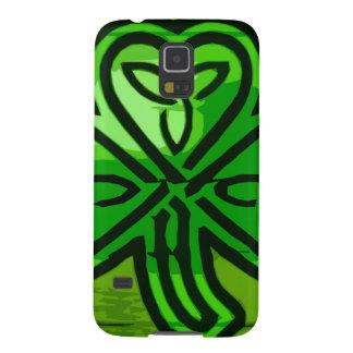 緑のクローバー GALAXY S5 ケース