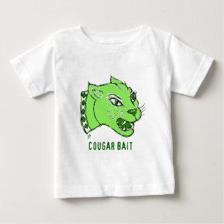 緑のクーガーの餌のプリント ベビーTシャツ