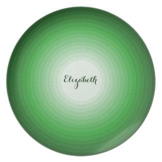 緑のクールな色合いは名前入りな一流のおもしろいを一周します プレート