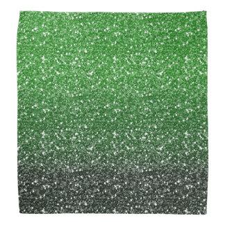 緑のグラデーションなグリッターの効果 バンダナ