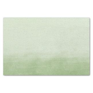 緑のグラデーションな水彩画 薄葉紙