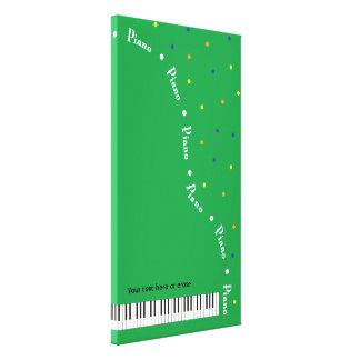 緑のグランドピアノのキャンバスの覆いの縦の大きい キャンバスプリント