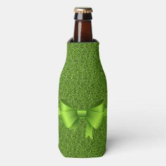 緑のグリッターおよび弓 ボトルクーラー