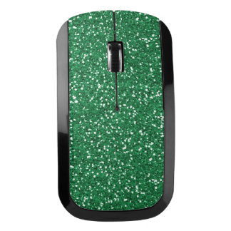 緑のグリッターのデザインの無線電信のマウス ワイヤレスマウス