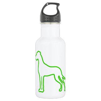 緑のグレートデーン ウォーターボトル