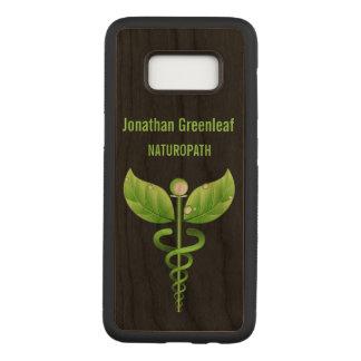 緑のケリュケイオンの代わりとなるMedicinの医学の記号 Carved Samsung Galaxy S8 ケース