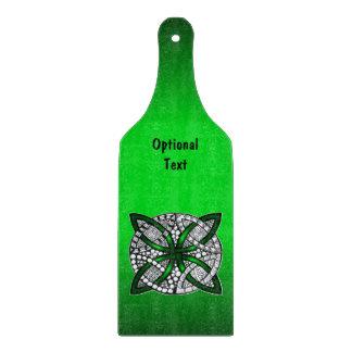 緑のケルト結び目模様のオリジナルの芸術 カッティングボード