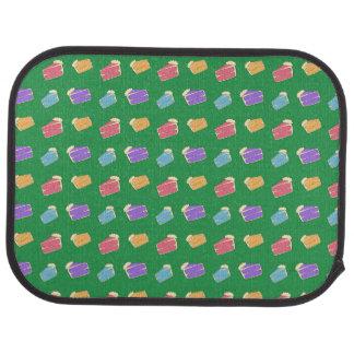 緑のケーキパターン カーマット