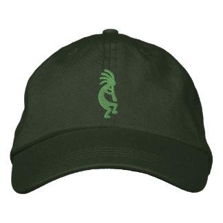 緑のココペリは帽子を刺繍しました 刺繍入りキャップ