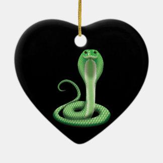 緑のコブラ セラミックオーナメント