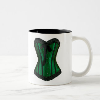 緑のコルセットのコーヒー・マグ ツートーンマグカップ