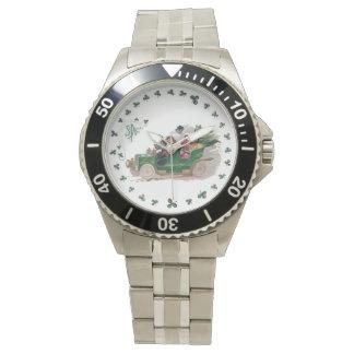 緑のコンバーチブルのセントパトリックの日の小旅行 腕時計