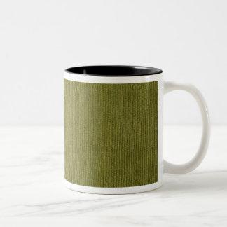 緑のコーデュロイ ツートーンマグカップ