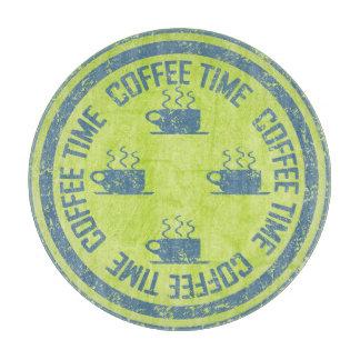 緑のコーヒー時間青 カッティングボード