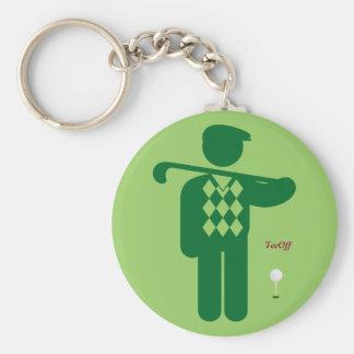 緑のゴルファーのkeychain キーホルダー