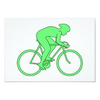 緑のサイクリスト カード