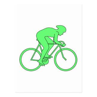 緑のサイクリスト ポストカード