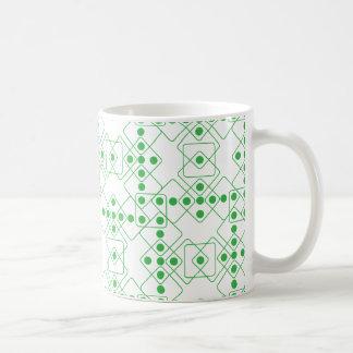 緑のサイコロ コーヒーマグカップ