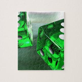 緑のサイコロ ジグソーパズル