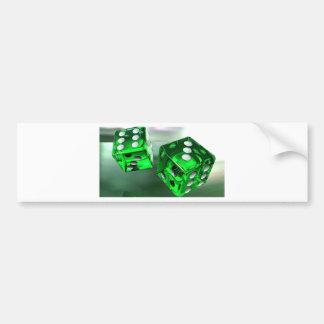 緑のサイコロ バンパーステッカー
