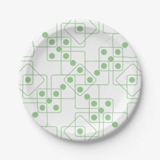 緑のサイコロ ペーパープレート