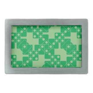 緑のサイコロ 長方形ベルトバックル