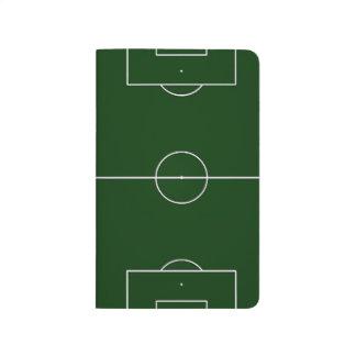 緑のサッカーゲームの競技場 ポケットジャーナル