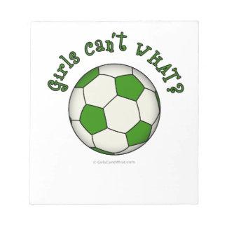 緑のサッカーボール ノートパッド