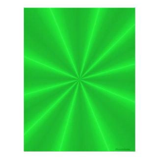 緑のサテンのスクラップブックの紙 レターヘッド