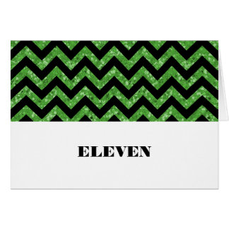 緑のシェブロンのグリッターのテーブルカード カード