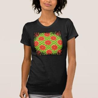 緑のシェブロンの明るい夏の柑橘類のグレープフルーツ Tシャツ