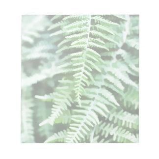 緑のシダの絵 ノートパッド