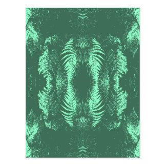 緑のシダパターン ポストカード
