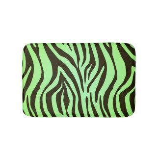 緑のシマウマのアニマルプリントパターン バスマット