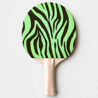 緑のシマウマのアニマルプリントパターン 卓球ラケット