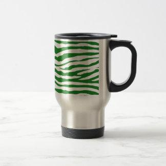 緑のシマウマは縞で飾ります トラベルマグ