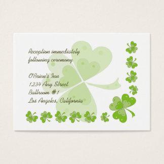 緑のシャムロックのアイルランドの結婚披露宴は#1を梳きます 名刺