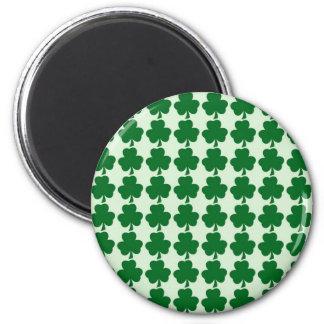 緑のシャムロックのストライプパターン磁石 磁石