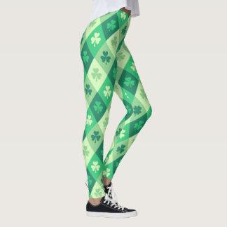 緑のシャムロックの幸運なSaint patricks dayのおもしろい レギンス