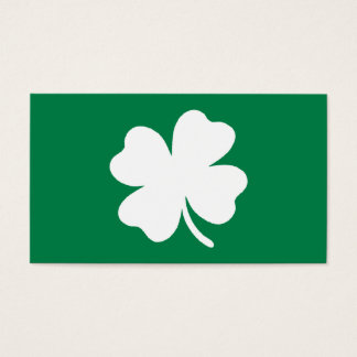 緑のシャムロックSt patricks dayアイルランド 名刺