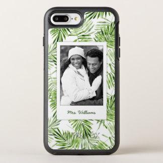 緑のシュロの葉は|あなたの写真を加えましたり及び示します オッターボックスシンメトリーiPhone 8 PLUS/7 PLUSケース