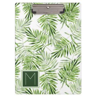 緑のシュロの葉|のモノグラム クリップボード