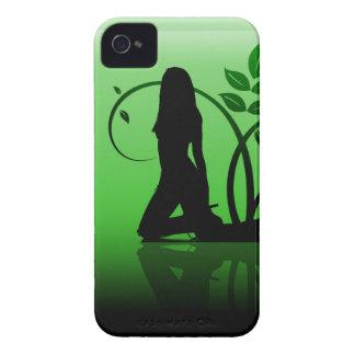 緑のシルエットのブラックベリーのはっきりしたな箱 Case-Mate iPhone 4 ケース