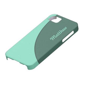 緑のシンプルなモダン iPhone SE/5/5s ケース