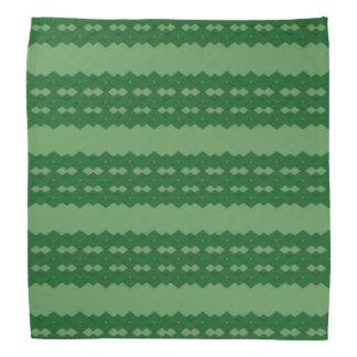 緑のジグザグ形のバンダナ バンダナ
