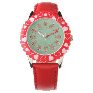 緑のジンジャーブレッドのクッキーキャンデー 腕時計